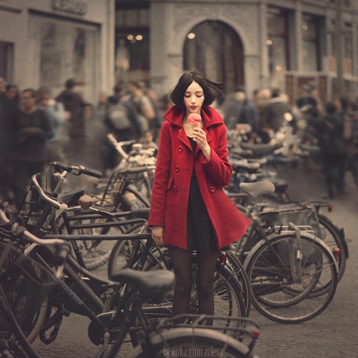 raspberry sorbet in Amsterdam by ankazhuravleva
