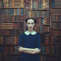 a girl from a library by ankazhuravleva