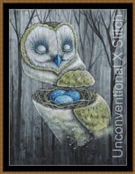Owl cross stitch pattern - Licensed Megan Majewski