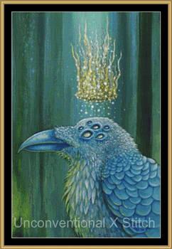 Raven crow cross stitch pattern - Licensed Megan M