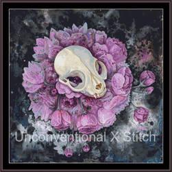 Animal skull cross stitch pattern - Licensed Megan