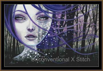 Forest Spirit cross stitch pattern - Licensed Meg