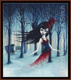 Twisted Circus cross stitch pattern - Licensed Meg