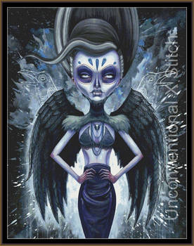 The Raven Queen cross stitch pattern - Licensed Me