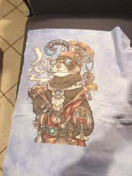 Octavious Time Travelling Ferret cross stitch
