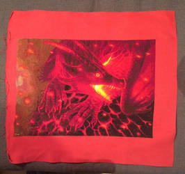 Fire and Ember cross stitch finish