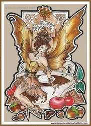 Coffee Fairy cross stitch
