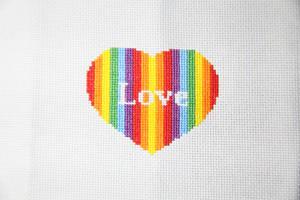 True Love cross stitch finished