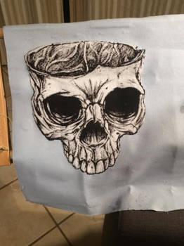 Skol from my Enemies cross stitch finish