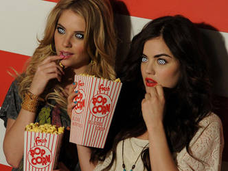 Ashley and Lucy attend a private screening by Ab1nsur
