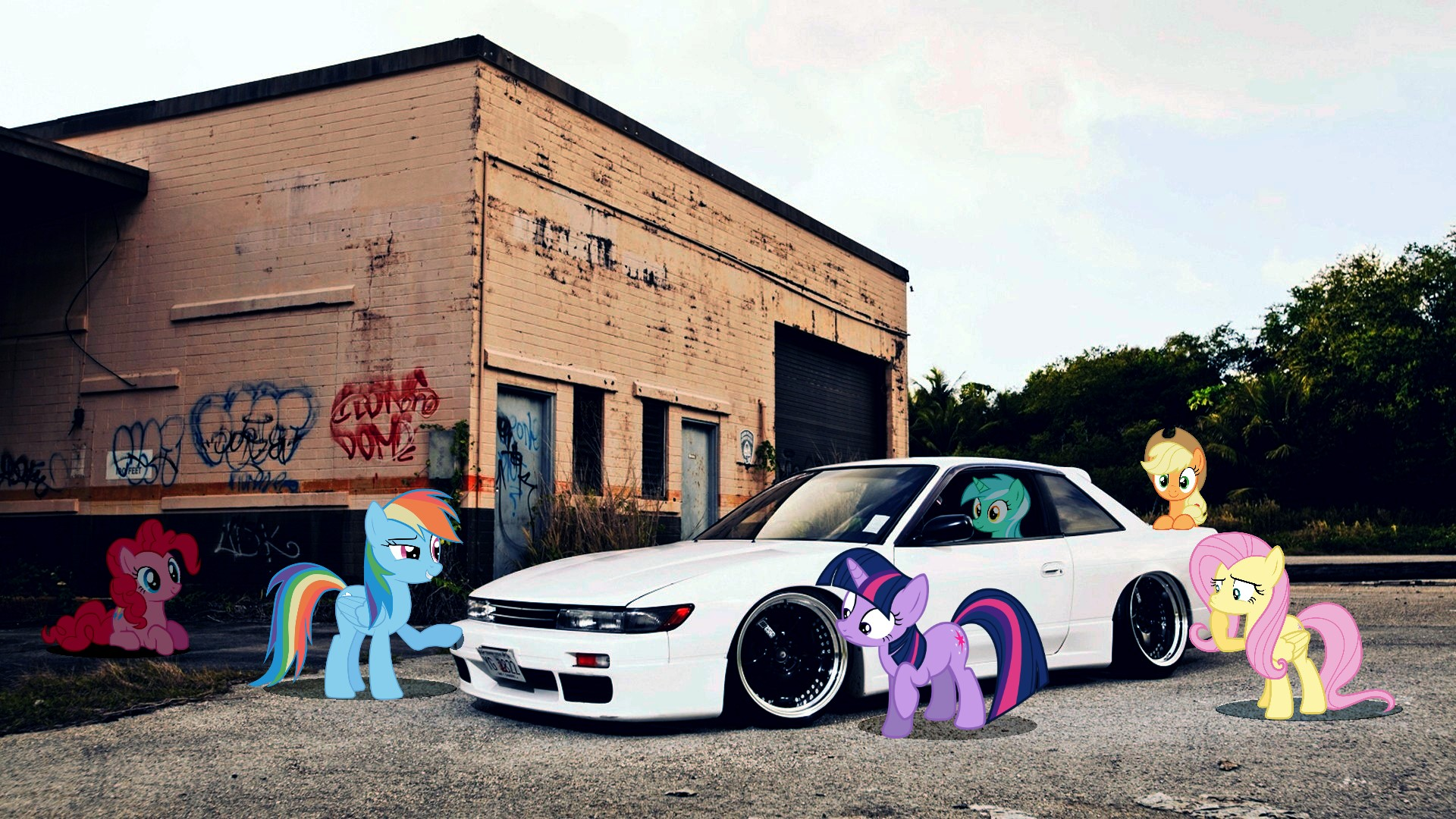 ... Ponified Nissan Silvia S13 Wallpaper by Make451