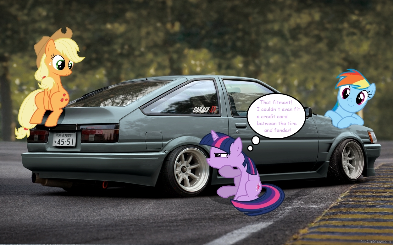 Ponified Toyota AE86 Levin Hatch By Make451