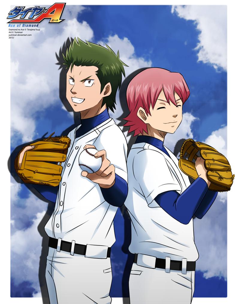 Kuramochi and Ryousuke  [speedpaint] by Yuminari