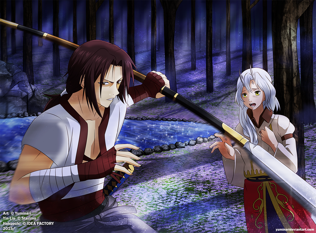 Yin Lin and Harada (Commission) [+Speedpaint] by Yuminari