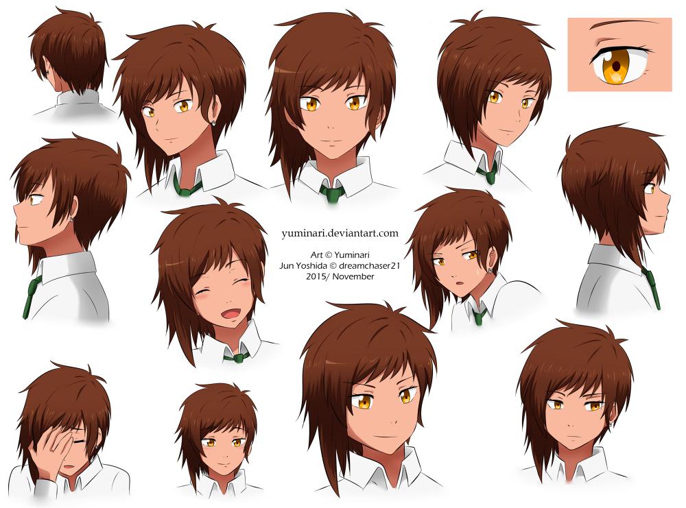 Jun Yoshida - Headshot sheet (Commission) by Yuminari
