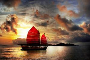 Slow Boat to China by Phatpuppyart-Studios