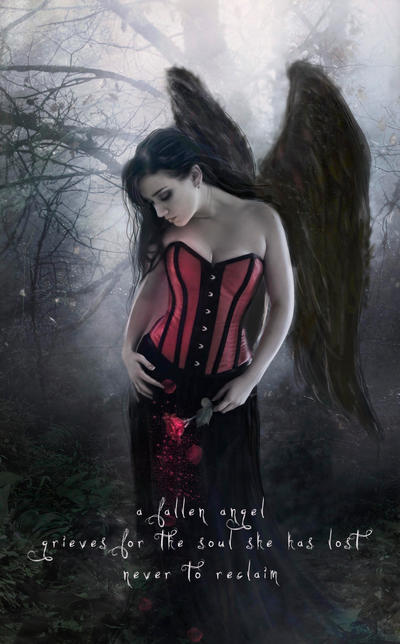 Mourning Angel by Phatpuppyart-Studios
