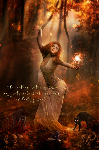 Autumn Witch by Phatpuppyart-Studios