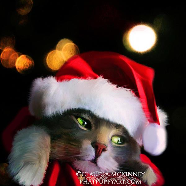 A Purrrfect Christmas by Phatpuppyart-Studios