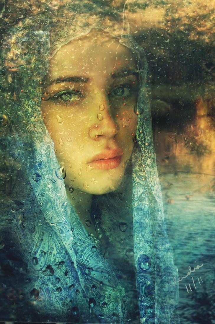 Through Sad Windows by Phatpuppyart-Studios on DeviantArt  Sad Paintings