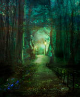 Walk into the Light by Phatpuppyart-Studios