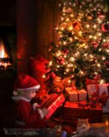 Santa's Little Helper by Phatpuppyart-Studios