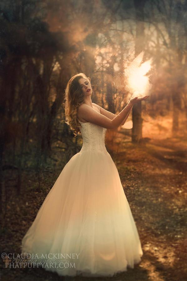 Magic in Her Hands by Phatpuppyart-Studios