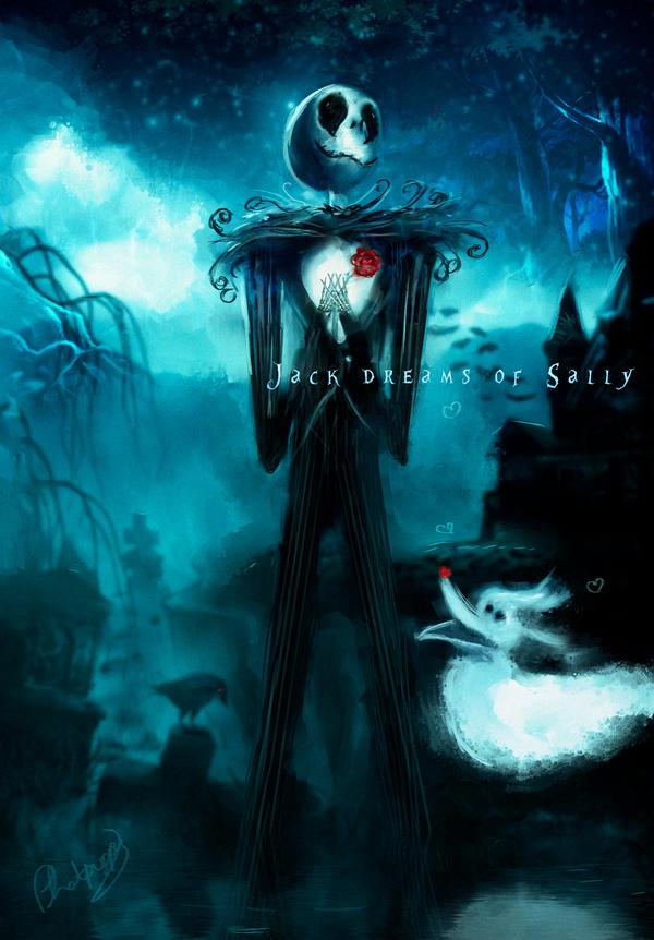 Jack Dreams of Sally by Phatpuppyart-Studios