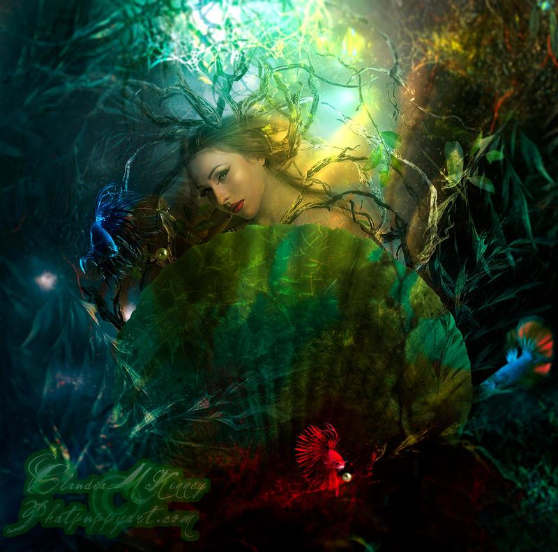 The Mermaid's Grotto by Phatpuppyart-Studios