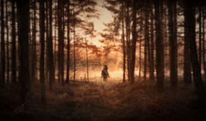 Lonely Rider by Phatpuppyart-Studios