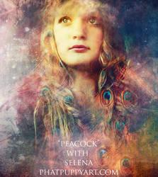 Peacock by Phatpuppyart-Studios