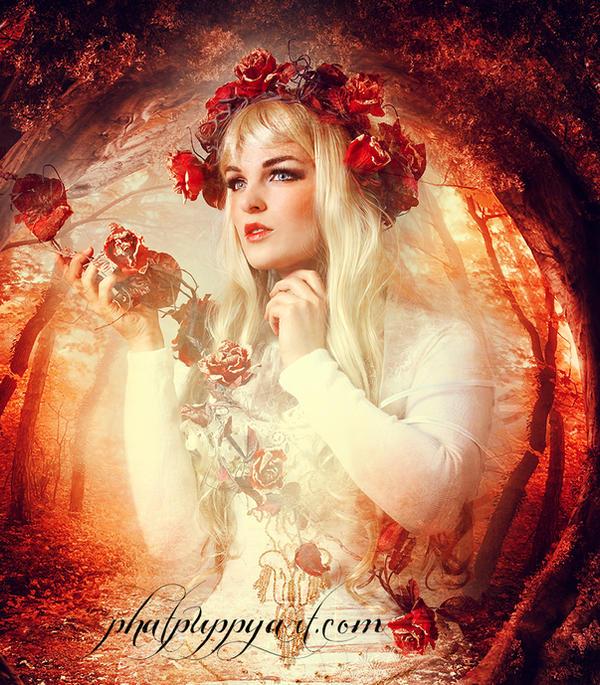 Autumn Queen by Phatpuppyart-Studios