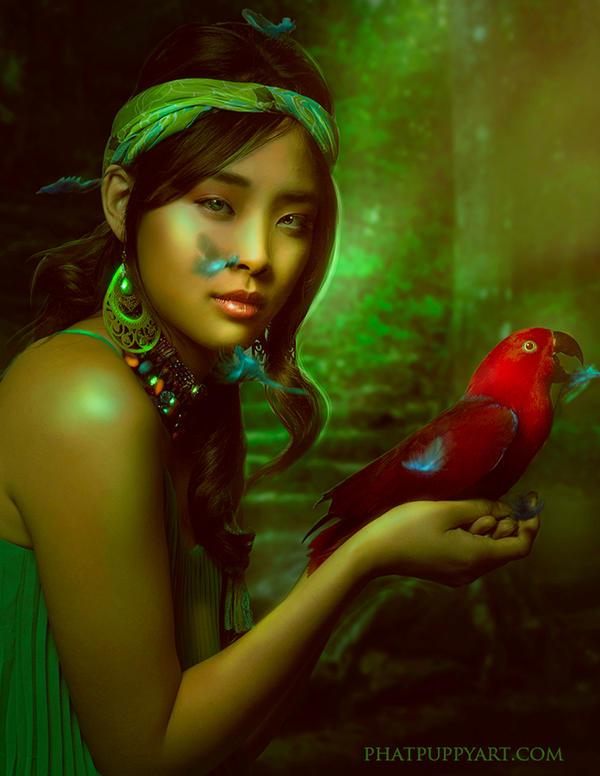 Birds of a Feather by Phatpuppyart-Studios