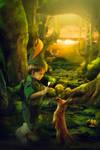 Peter Pan by Phatpuppyart-Studios