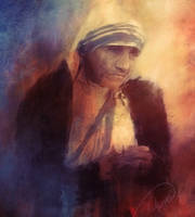 Mother Teresa by Phatpuppyart-Studios