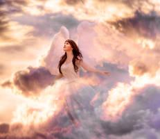 Angel Clouds by Phatpuppyart-Studios