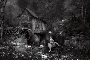 Down by the Old Mill Stream by Phatpuppyart-Studios