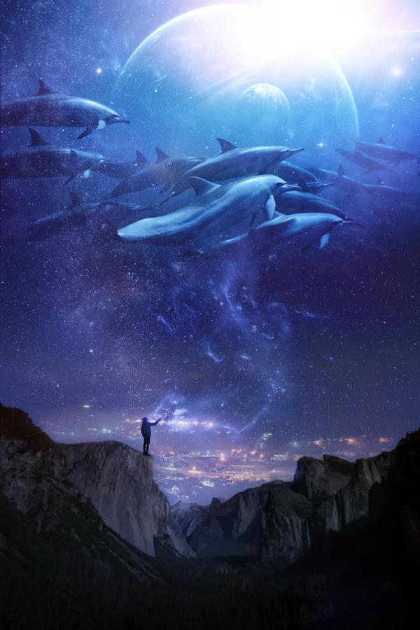 Celestial Waters by Phatpuppyart-Studios