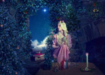 Christmas for Rapunzel by Phatpuppyart-Studios