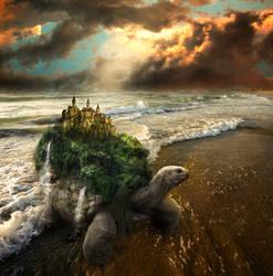 Tortuga by Phatpuppyart-Studios