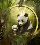 Endangered Pandas by Phatpuppyart-Studios