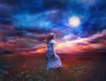 Full Moon by Phatpuppyart-Studios
