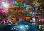 My Japanese Garden by Phatpuppyart-Studios