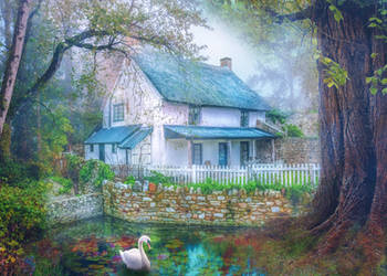 Country Cottage by Phatpuppyart-Studios