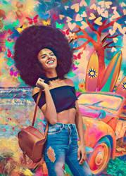 World of Color Circa 1970 by Phatpuppyart-Studios
