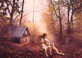 Sweet Music Between Friends by Phatpuppyart-Studios