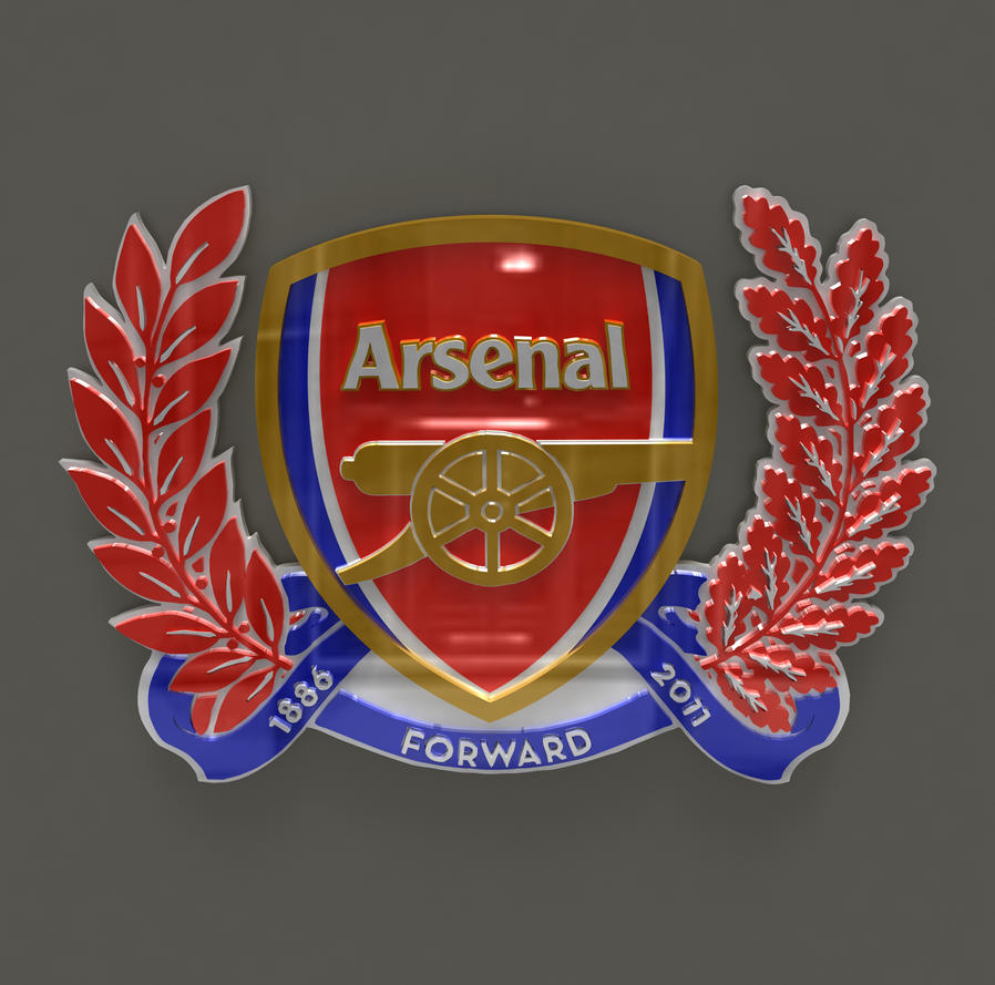 Arsenal London Logo In 3D Made 3DS MAX By Fred128