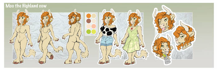 Moo ref sheet by ArtyMadCow
