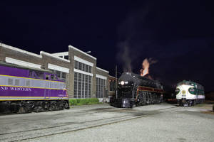 NW--#611 4-8-4, SOU #6133 FP7 and NW #501 E6A-Spen by 3window34