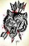Hunting tiger King by Inkhov